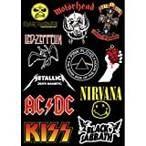 XXCKA Heavy Metal Rock Pegatina Metallica Pink Floyd ACDC Guitar Box Street Hiphop