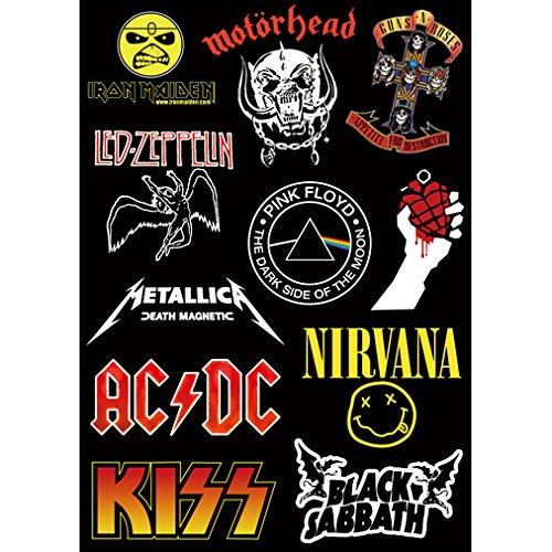 WEIGUANG Heavy Metal Rock Aufkleber Metallica Pink Floyd ACDC Gitarrenkoffer Street Hiphop 11St