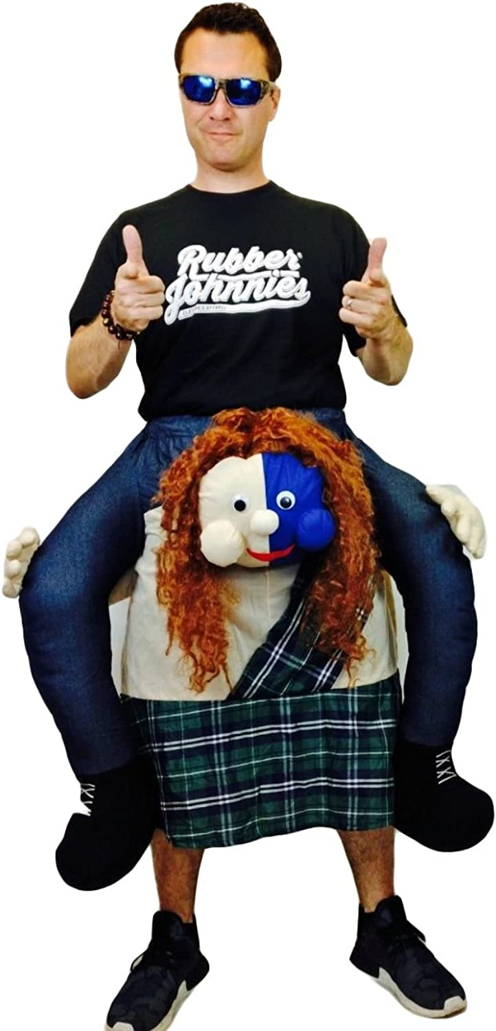 Rubber Johnnies Scottish Scotsman Ride On Riding Outfit With True rot Kilt Wallace Adult Mascot Halloween Party Scotland B072Q6Y9HD Wirtschaft   | Sonderkauf