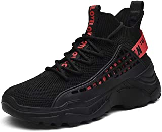 XIDISO Hommes Baskets Montantes Chaussure de Course Mode Adulte Sport Running Shoes Marche Fitness