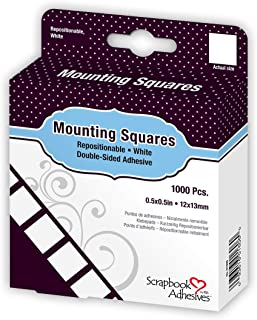 Scrapbook Adhesives by 3L Permanent Mounting Squares, 1000-Pack