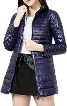 Women's Ultra Light Weight Down Jacket Packable Long Outwear Puffer Coats KIKOY
