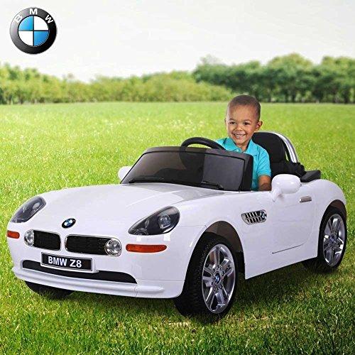 BAKAJI Auto Elettrica per Bambini 12V Macchina Ufficiale BMW Z8 Spider 1 Posto con Telecomando Parentale, Colore Bianco