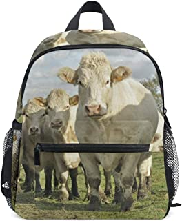 Pequeña Mochila Escolar de Vaca de Ganado Vaca para niña, niña, niña, niña, niña, niño, Mochila de Viaje, Bolsa de Viaje para Estudiantes, Primaria