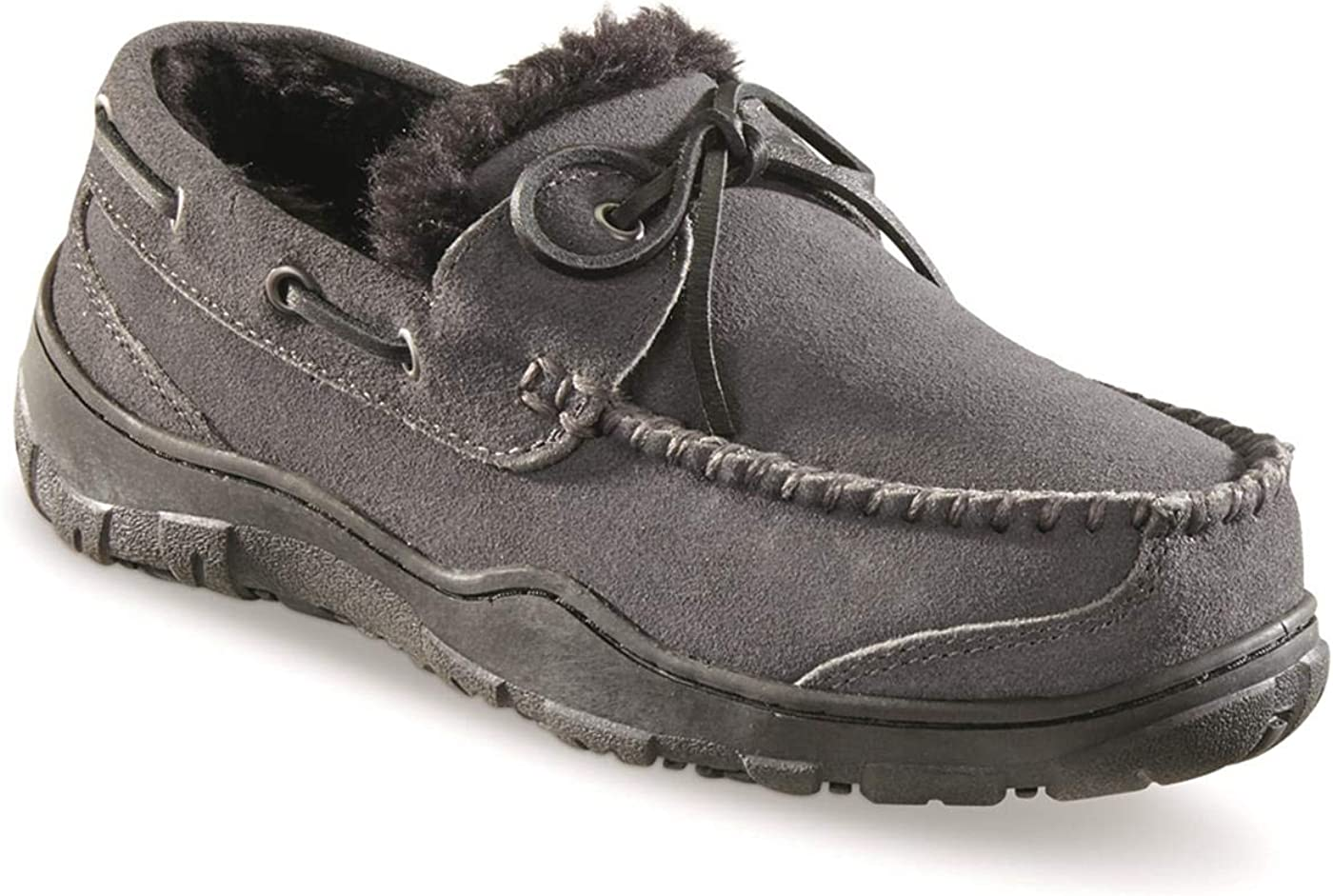 Guide Gear Men's Now on sale Suede Max 75% OFF Slippers Moc Tie