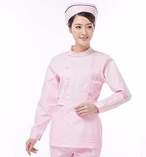 ShiFanA Camice da Laboratorio Medico Infermiere Abbigliamento da Lavoro Maniche Lunghe per Uomo Donna