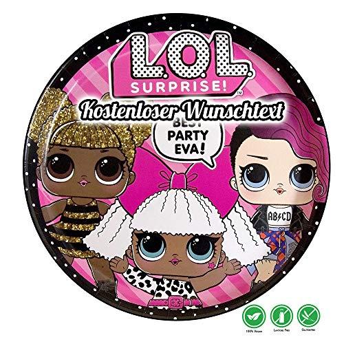 Tortenaufleger Geburtstag Tortenbild Zuckerbild Oblate Motiv: LOL 10 (Oblatenpapier)