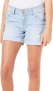 YMI Women's Wannabettabutt Double Button Roll Cuff Short