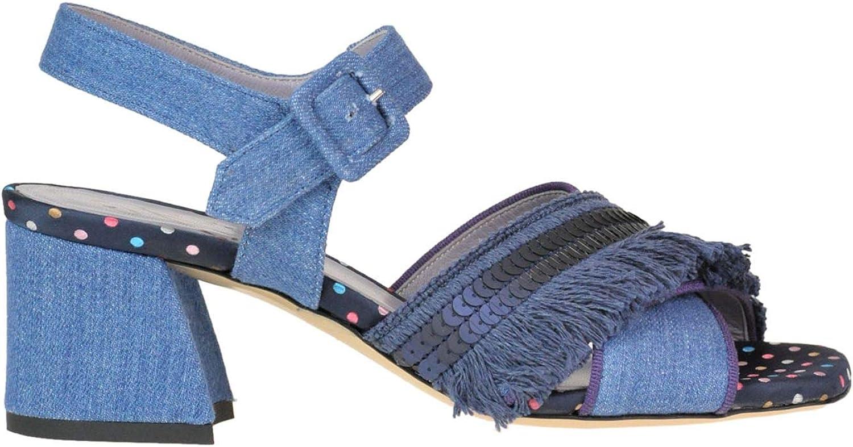 G. DI G. Women's MCGLCAT000005183E bluee Denim Sandals