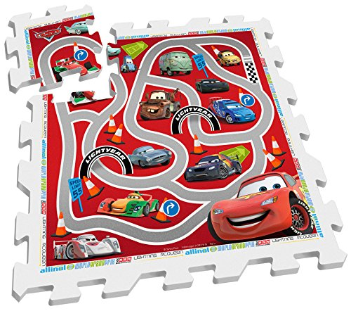 Stamp Sas TP892001 Puzzle Playmat Racetrack Cars 9 Pcs, Bebé-Niños, Multicolor, 10 m+