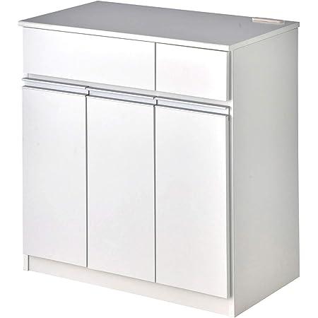 [ベルメゾン] ダストボックス カウンター キッチンカウンター ホワイト B 3分別 スライド棚なし