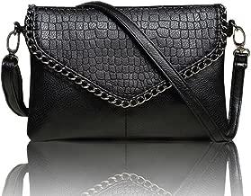 Large fashion Clutch Handbags black woman bag bolsas feminina big clutch bag cute envelope ladies women shoulder bags purse handbag women evening leather purse (Large, black)