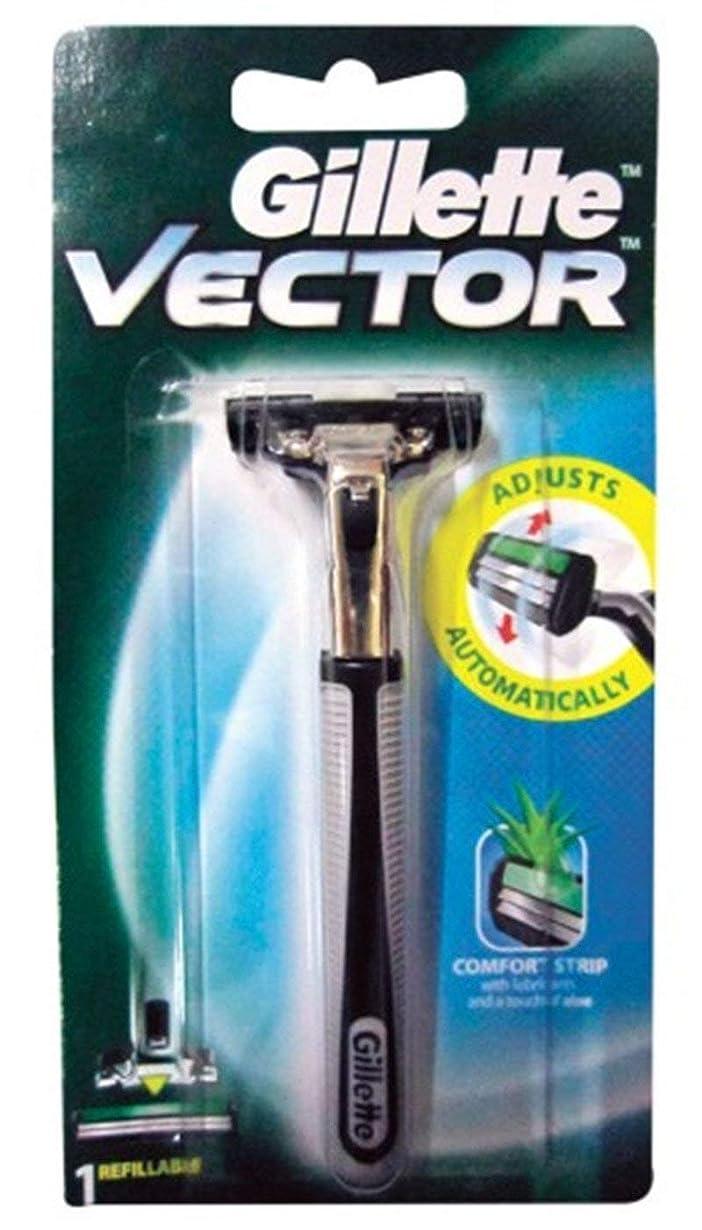 バックアップシネウィバラ色Gillette Vector Razor 1 PC. From Thailand
