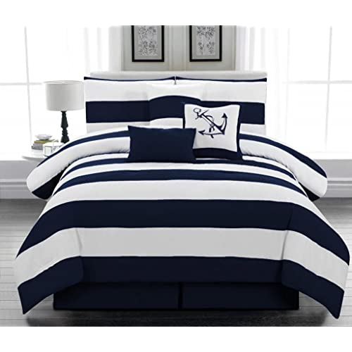 Navy And White Comforter Sets Amazoncom
