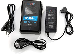 New 190Wh(13400mAh) V Mount/V-Lock Battery Compatible Video Camera Camcorder Broadcast LED Light with D-tap Output Cable and D-Tap Charger