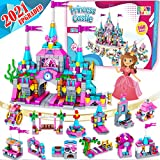 Catcrafter Princess Castle Kids Girls Toys - STEM Toy Construction Building Blocks Playhouse Doll House Birthdays Gifts for Toddler Kid Girl Ages 5 6 7 8 9 10 11 12 Years Old Indoor Outdoor Learning