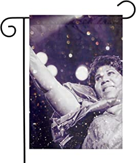 NA Custom Colorful Garden Flag Football Team Aretha Franklin Outdoor House Yard Flag Vertical Double Sided 12.5 X 18 Inches Indoor Banner Wedding Party Decor