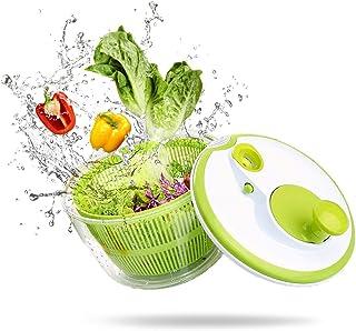 AnGeer Salad Spinner Large Multifunction 4.5 Quart Design BPA Free,Manual Good Grips Crank Handle & Locking Fruits and Veg...