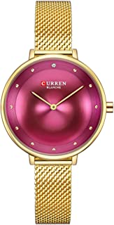 Curren Casual Watch For Women Analog Metal - 9029