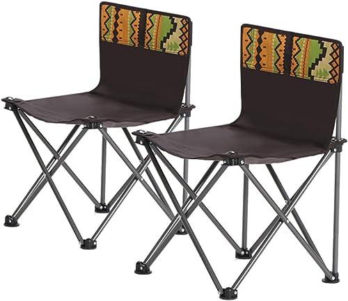 Chaise de Camping Chaise Pliable pour Le Camping La Pêche Croquis d'artiste, Siège De Voyage en Plein Air pour Festival portable avec Sac de Transport Chaises Pliantes (Taille   Set of 2)