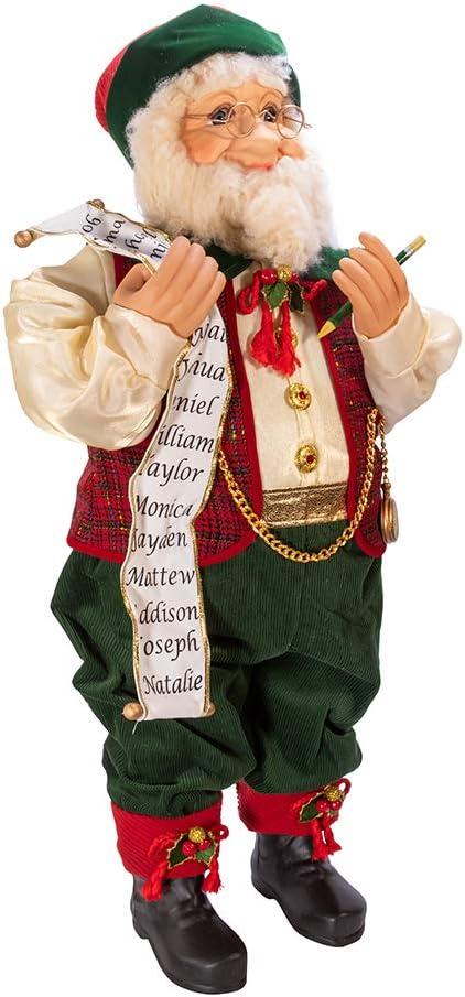 Kurt Adler Kringles 当店一番人気 (訳ありセール 格安) Red and Green Décor List Christmas with Elf