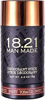 18.21 Man Made Deodorant for Men, 2.6 Ounces - Luxurious, Scented Men's Deodorants without Aluminum to Detoxify and Condition Skin - Premium Men Care Products - Gifts for Him