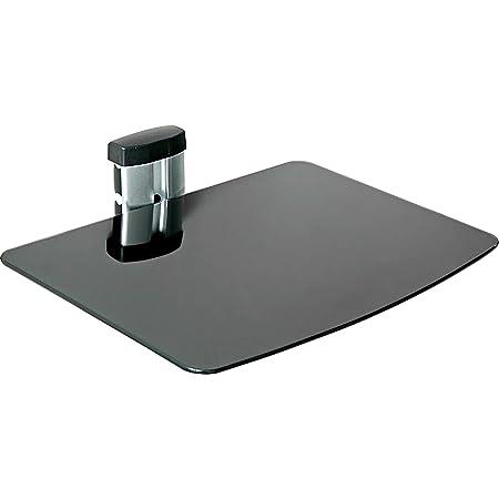 TecTake Soporte de pared para reproductores de DVD y receptores - varios modelos - (1 estante Negro/Plata | 400465)