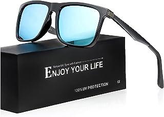 TJUTR - Espejo Gafas De Sol Hombre Polarizadas 100% Protección UVA UVB para Conducir Viajes Playa