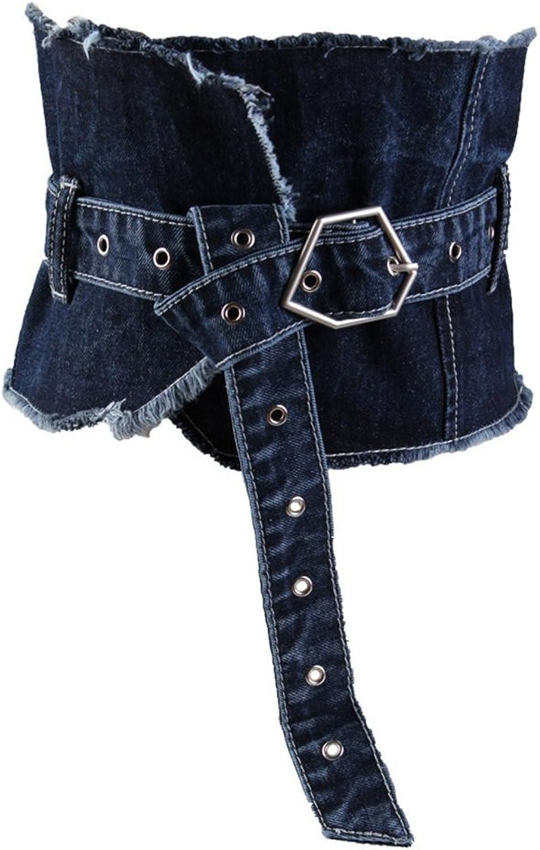 Canvas Belt Women's Belt Denim Waist Strap Belt Irregular Retro Casual Wear Ultra Wide Belt Lady's Decoration