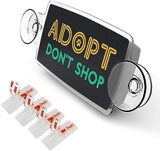 AutoBoxClub Adopt Don't Shop - New EZ Pass, IPass Tag Holder/Transponder Holder/Toll Pass Windshield Mount/Genuine Reclosa...