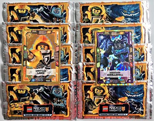 LEGO Nexo Knights Trading Cards Serie 2: 10 Booster + Limitierte Karten LE3 + LE16