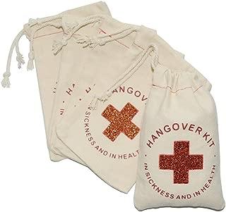 FOONEA 10pcs Cotton Muslin Party Favor Wedding Bag 4x6 inch Red Glitter Cross Bachelorette Hangover Kit Bag Cotton Muslin Drawstring Bag Recovery Bag