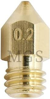 MadridGadgetStore/® Cabezal Cabeza Boquilla 0.4 mm 0.4mm para Extrusor Extrusora Nozzle E3D V5 V6 Impresora Impresi/ón 3D MK8 HotEnd Hot End Extrusor Filamento 1.75 mm 1.75mm Lat/ón Repuesto Spare