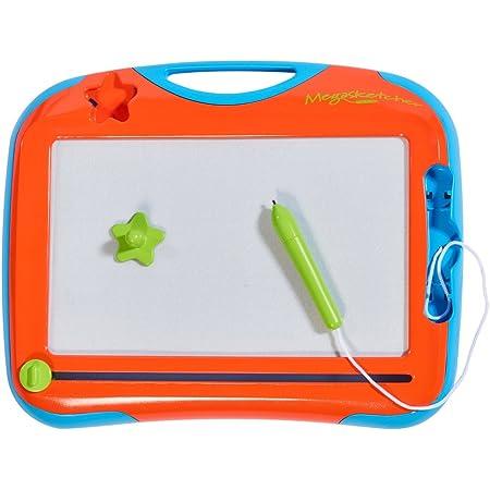 TOMY - Mini Ardoise Magique Megasketcher T72741, Tablette Dessin Idéal Pour les Voyages, Tableau Magnétique Effaçable Adapté aux Enfants de plus de 3 ans