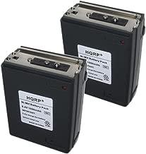 HQRP 2-Pack 1600mAh Battery for Icom IC-A2, IC-A20, IC-A21, IC-M2, IC-M5, IC-M11, IC-M12 + HQRP Coaster