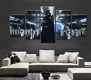 Epikkanvas Empowered Living - 5PCS Framed Star Wars Black Knight Darth Vader Canvas-5 Piece Starwars Wall Art for Office and Home Wall Decor (XLarge: 4060cm x2pcs+4080cm x2pcs+40100cm x1pc)