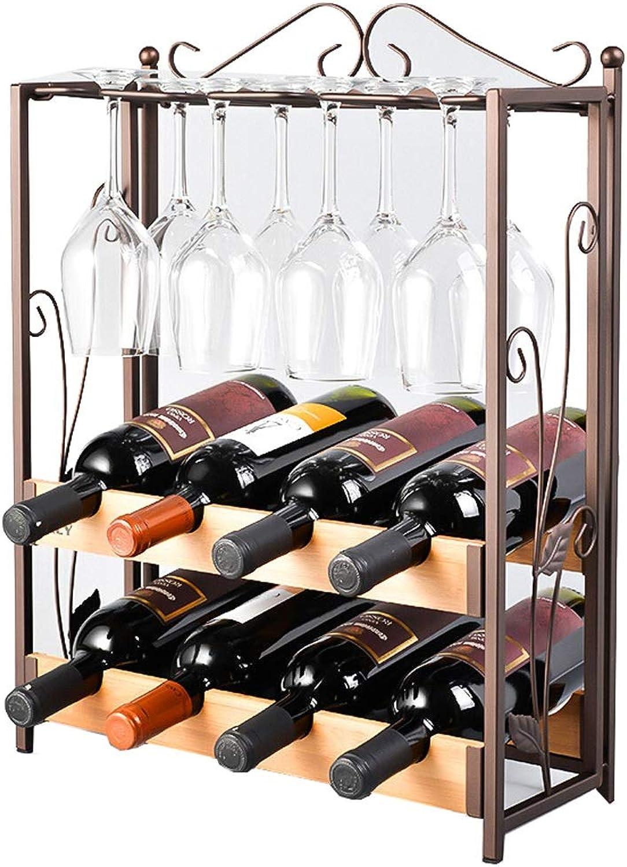 Wine Rack Creative European Hanging Cup Wine Glass Hanging Rack Simple European Retro Style