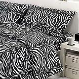 Smartsupershop Sommer-Tagesdecke für Einzelbett, Zebra Sexy + 1 Kissenbezug aus Baumwolle Jacquard Piqué Made in Italy - Geschenkidee