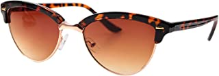 Semi-randloze Anti Blue Light leesbril Vrouwen Presbyopie Zonnebril leesbril 9.22 (Color : E, Size : +150)