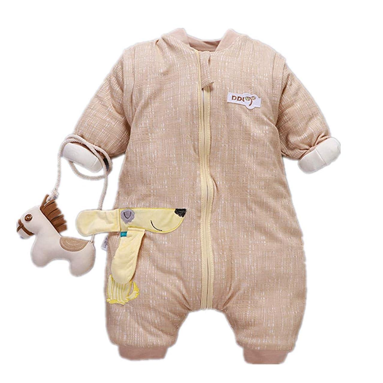 MINIKATA Wearable Blanket from MINIKATA, 4 Season Merino Wool Baby Sleep Bag or Sack, 2mo-2yrs (Yellow/M(23.6-31.5in))