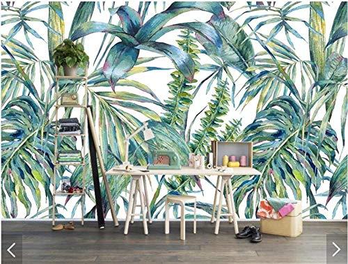3D vliesbehang fotobehang abstract 3D Tropical Leaves fotobehang fotobehang voor muurkunst handgeschilderd behang woonkamer papier 430*300 430 x 300.