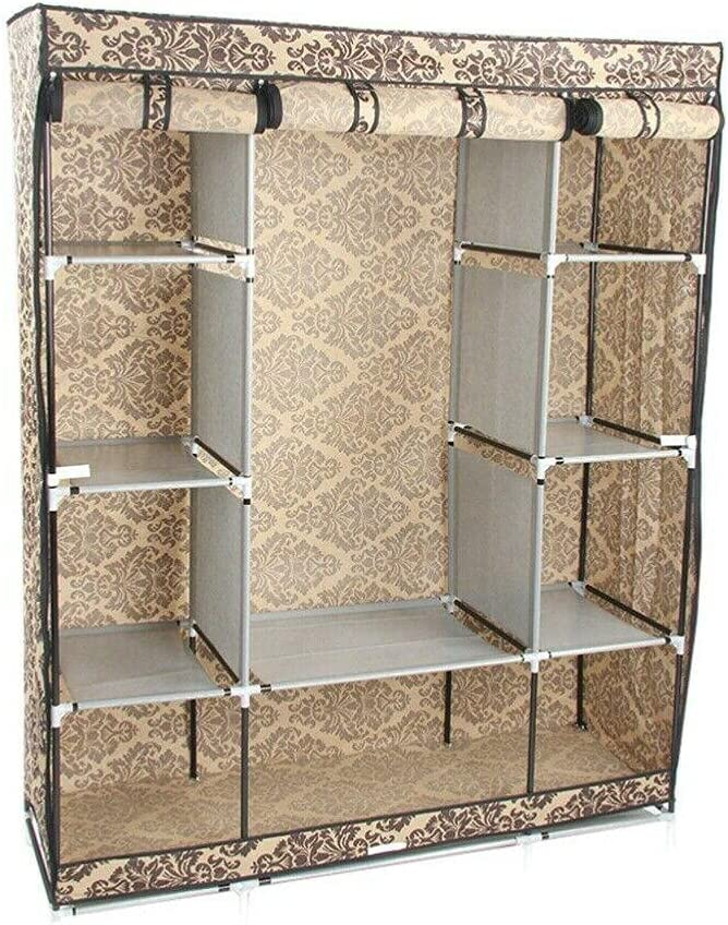4-Layer Bargain sale Portable Closet Storage Rack Clothes Wardrobe Topics on TV Organizer