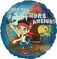 "Anagram International Jake Neverland Pirates Foil Balloon Pack, 18"", Multicolor"