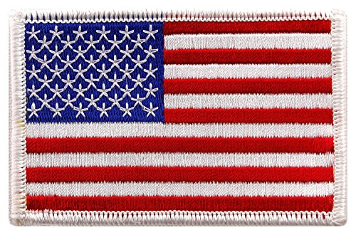 USA US American Flag Logo Embroidered Patch Sew on Iron On Applique 3.4