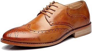 [サニーサニー] 紳士靴 ビジネス シークレットシューズ 革靴 ブローグ レースアップ 身長UP おしゃれ 型押し かっこいい お兄 滑り止め 軽い 夏 ウィングチップ 柔らかい 痛くない ブラック カジュアル 防水 23.5cm-27.5cm