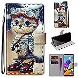 DICASI Handyhülle für Samsung Galaxy A21s Hülle, Premium PU Leder Wallet Hülle Kartensteckplätzen & Standfunktion Schutzhülle Kompatibel mit Samsung Galaxy A21s