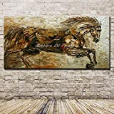 N / A Disegnata a Mano velocità Astratta Cavallo Pittura a Olio Animale Tela Pittura murale Arte Soggiorno Decorazione della casa A 60x90cm