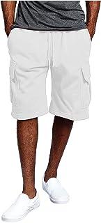 ffoldey Mens Cargo Shorts Summer Elastic Waist Quickly Dry Plus Size Men's Lightweight Work Shorts with Multi Pockets Stre...