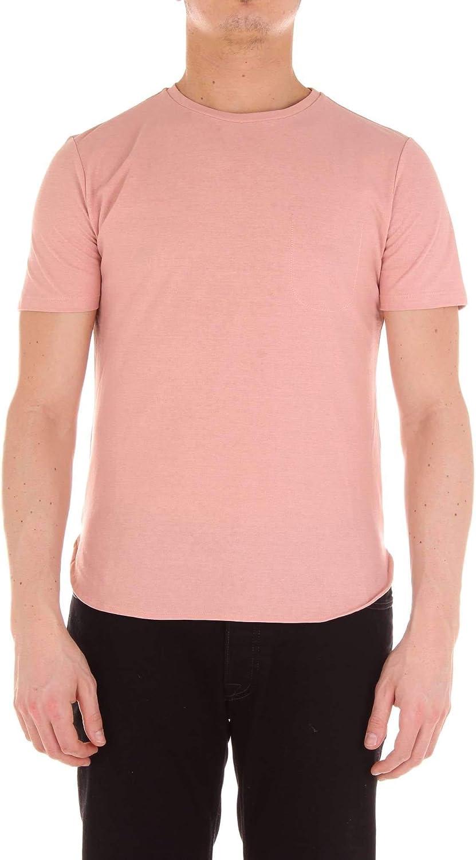 e6bf555d8846 Cruna Cruna Cruna Men's NIZZA432pink Pink Cotton T-Shirt b55f83 ...