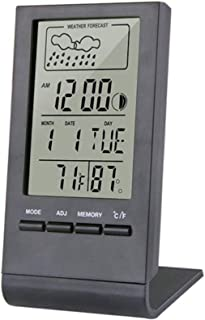 Thermometer Hygrometer Electronic Digital Outdoor Indoor Thermometer Hygrometer Alarm Clock Weather Station LCD